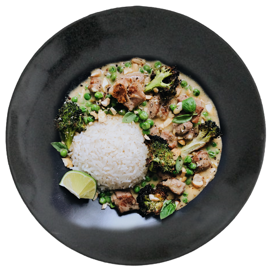 Green Coconut Curry Lamb